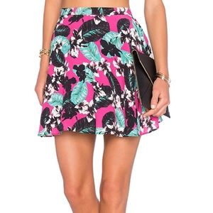NWOT NBD x naven Hot tropics floral mini skirt